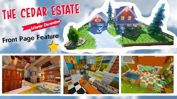 Cedar Estate (Contest) - Middle Eastern - 100% FULL INTERIOR REDESIGN | Custom Pool + Car + Paintings/Map Assets | 1.5 | Minecraft Map & Project
