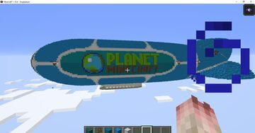 10 YEAR anniversary blimp MADE BY OVERLORD_AQUA_2 Minecraft Map & Project