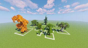 many, very different trees (1.13) Minecraft Map & Project