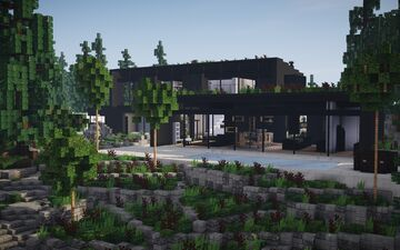 Modern Ruins House ||BPN SERVER Minecraft Map & Project