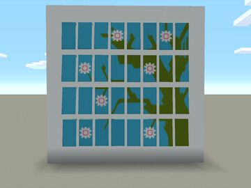 Cherry Tree Banner Mural Minecraft Map & Project