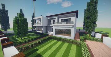 Modern House #20 + Schematics Minecraft Map & Project