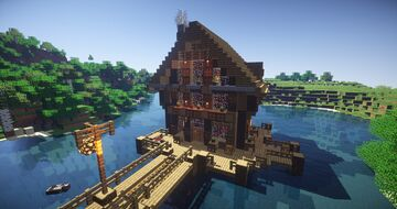 Riverside cottage Minecraft Map & Project