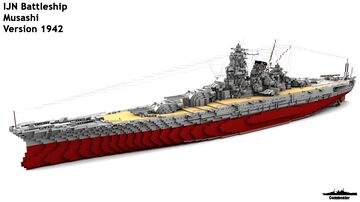 IJN Musashi 1:1 Scale (All versions) Minecraft Map & Project