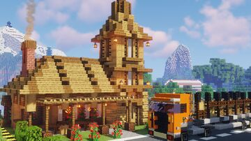 Deluxe wooden cabin Minecraft Map & Project