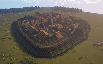 Anglo-Saxon Alfredian Burh [880 - 1066 A.D.] Minecraft Map & Project