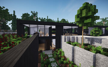Black Modern Mansion ||BPN SERVER Minecraft Map & Project