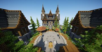 ⭐ EXCLUSIVE ⭐ Medieval Spawn | Skywars/Bedwars/EggWars... etc Minecraft Map & Project
