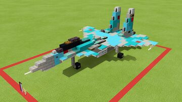 SU-33 Flanker D Minecraft Map & Project
