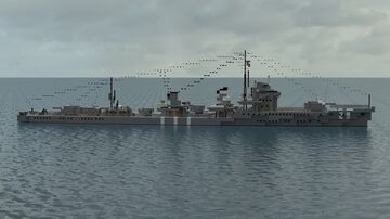 Wakaba | 1:1 Hatsuharu-class Destroyer Minecraft Map & Project