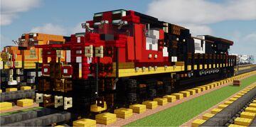 Minecraft Canadian National CN C44-9W Train Minecraft Map & Project
