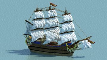 Spanish Ship Minecraft Map & Project