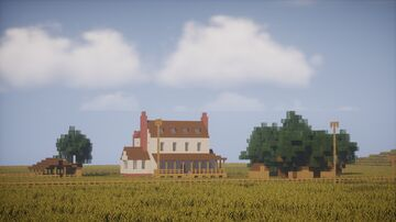 Ranch House - Kansas 1850 (1:1 scale) Minecraft Map & Project