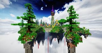 Rapunzel Princess & Tower on the Flying Island Minecraft Map & Project