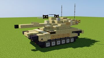 Merkava Mk 4 Main Battle Tank Minecraft Map & Project