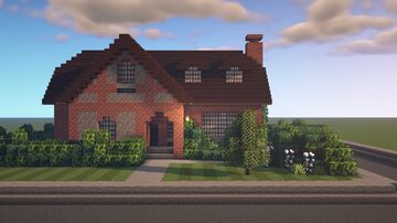 British Countryside House [SCHEMATIC] Minecraft Map & Project