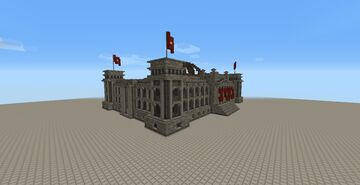Reichstag WWII scene (modpack in description) Minecraft Map & Project
