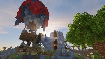 Fantasy Hot Air Balloon Collection Minecraft Map & Project