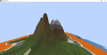 INSANE MOUNTAINS with lava surrounding Minecraft Map & Project