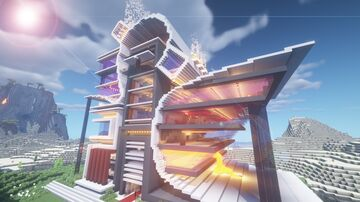Futuristic Server Spawn Minecraft Map & Project