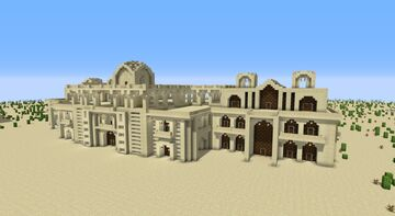 Large Modern Mughal Style Mansion Minecraft Map & Project