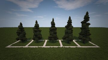 Conquest Reforged Tree Pack - Medium Pine Trees Minecraft Map & Project