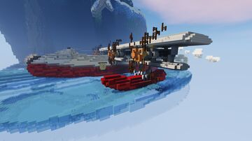 Amphibious aircraft and winter landscape Minecraft Map & Project