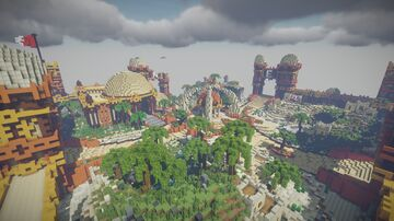 Spawn Faction 800x800 (with WarZone) Minecraft Map & Project