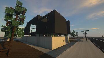 Sleek Modern Black Townhouse Minecraft Map & Project