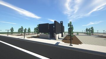 Sleek Modern Black Townhouse Minecraft Map & Project
