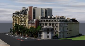 Saint-Louis island | Paris [1:1] for BTE Project Minecraft Map & Project