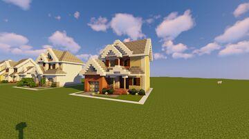 1-Chunk Suburban House 4 Minecraft Map & Project