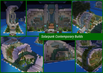 Solarpunk Contemporary Builds Minecraft Map & Project