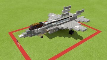 F-35A lightning 2 (1.5-1 scale) Minecraft Map & Project