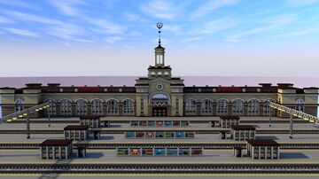 FREE DOWNLOAD | Train Station Minecraft Map & Project