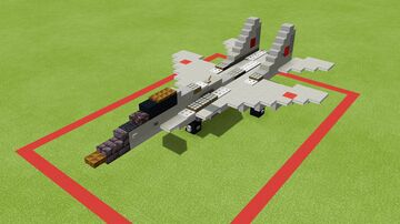 MIG-29 fulcrum (1.5-1 scale) Minecraft Map & Project