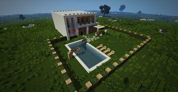 Smart Elegant Modern House Minecraft Map & Project