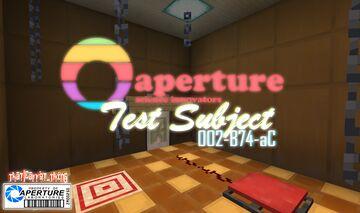 Aperture - Science Innovators : Test Subject 002-B74-aC Minecraft Map & Project