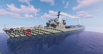 CORAZZIERE (Soldati I serie class or Camicia Nera class destroyer) Minecraft Map & Project