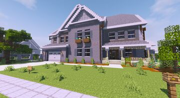 Realistic American Style Suburban House Minecraft Map & Project