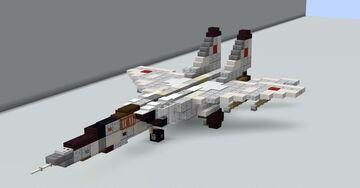 Mikoyan-Gurevich MiG-25 (NATO: Foxbat) (1.5:1 scale) Minecraft Map & Project