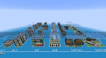 Modern City Buildings [Procedural Metropolis Contemporary Edition Project Contest Entry] Minecraft Map & Project