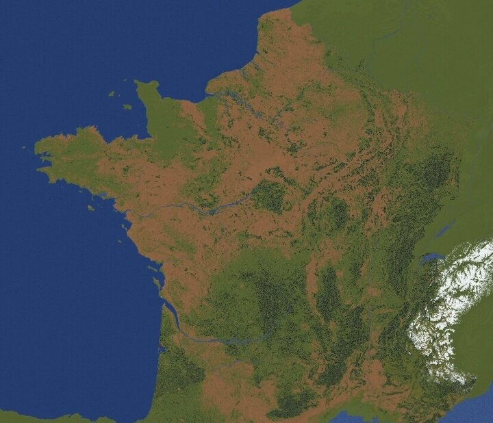 Popular Map : FRANCE MAP [22k by 22k] HD - Realistic - Free download