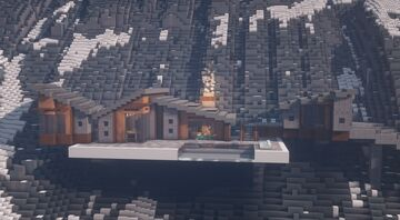 Snowy Mountain House - Built over the course of 2 Live streams Minecraft Map & Project