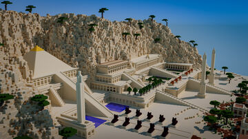 Temple of Hatshepsut - Egyptian Temple Minecraft Map & Project
