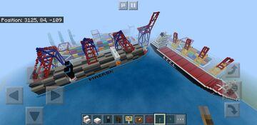 Cargo port Minecraft Map & Project