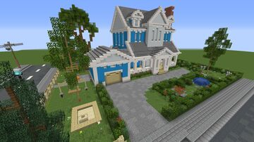 Family Home - Blue Lakes Interior & Garden Minecraft Map & Project