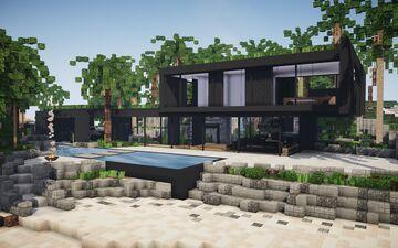 Black Modern House ||BPN SERVER Minecraft Map & Project