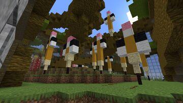 """Can I borrow a Pencil"" Minecraft Map & Project"