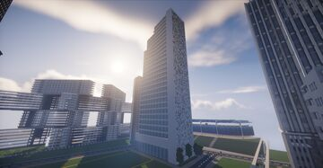 "Residental tower ""Lodowiec"" Minecraft Map & Project"